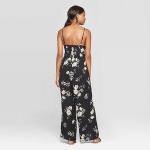 Xhiliration Dresses - Xhiliration- Floral Vneck Jumpsuit